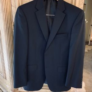 Navy Sport Coat size 40Reg 2 button front solid